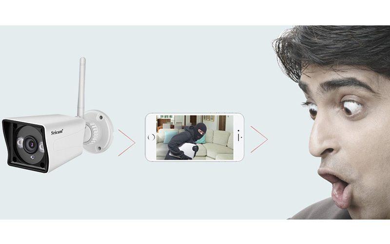 sricam sp023 1080p - camera ip wifi quan sát ngoài trời, chống nước - quan sát