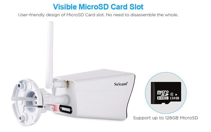 sricam sp023 1080p - camera ip wifi quan sát ngoài trời, chống nước - thẻ nhớ