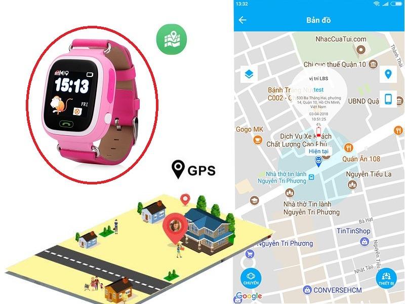 Tính năng định vị GPS trên đồng hồ trẻ em Wonlex GW100