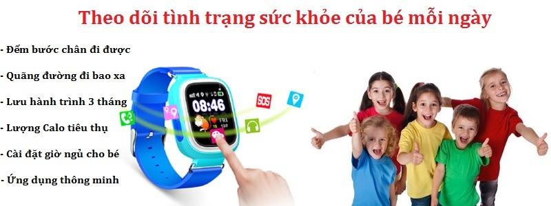 Đồng hồ định vị GPS Wonlex GW100 hỗ trợ đa tính năng dành cho bé