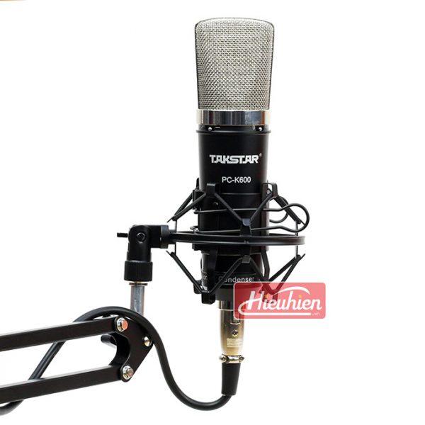 Takstar PC K600 (Đen) – Micro thu âm condenser chuyên nghiệp cao cấp 0
