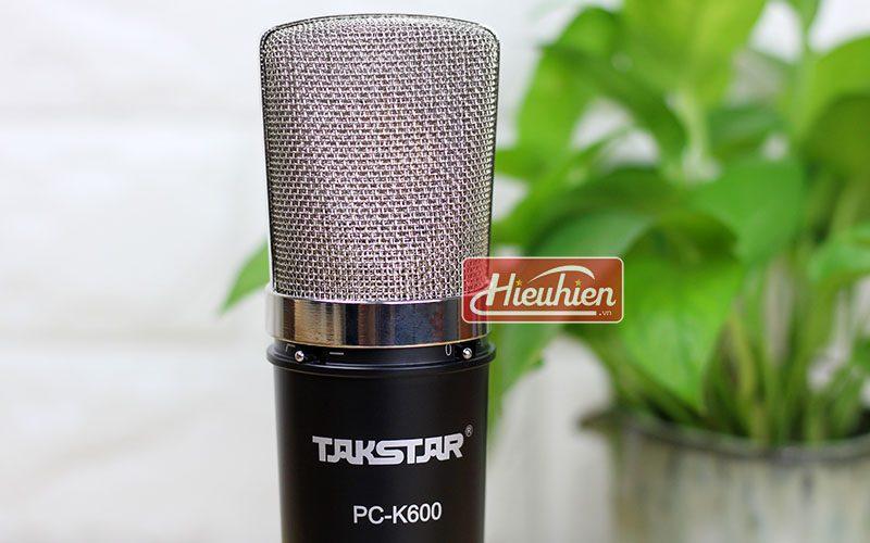 takstar pc k600 (đen) – micro thu âm condenser chuyên nghiệp cao cấp - đầu micro