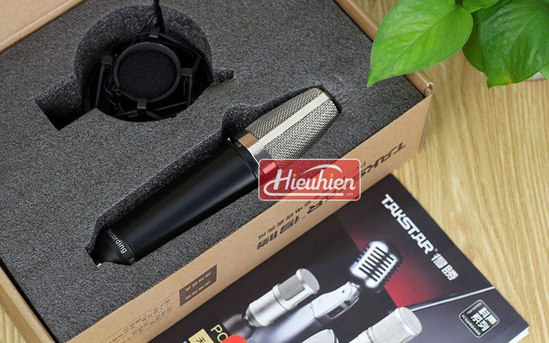 takstar pc k600 (đen) – micro thu âm condenser chuyên nghiệp cao cấp - hộp
