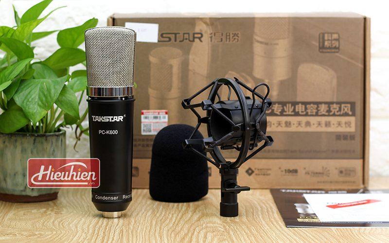 takstar pc k600 (đen) – micro thu âm condenser chuyên nghiệp cao cấp - phụ kiện