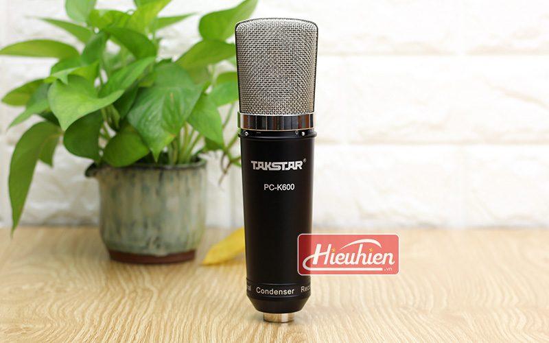 takstar pc k600 (đen) – micro thu âm condenser chuyên nghiệp cao cấp - mặt trước