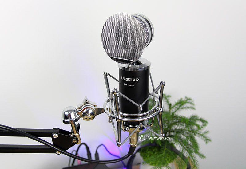 takstar pc-k810 - micro thu âm condenser cao cấp, hát livestream - màn lọc