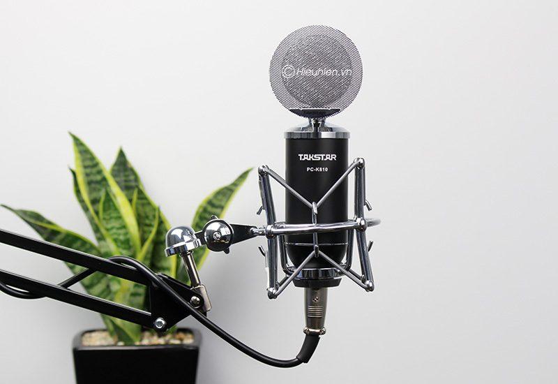 takstar pc-k810 - micro thu âm condenser cao cấp, hát livestream - giá đỡ