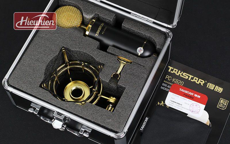 takstar pc k820 – micro thu âm chuyên nghiệp cao cấp - hộp kim loại