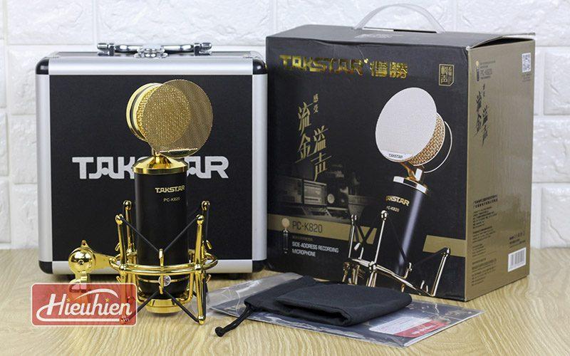 takstar pc k820 – micro thu âm chuyên nghiệp cao cấp - trọn bộ