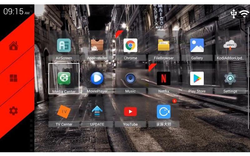 tanix tx5 max 4gb/32gb android 8.1 tv box amlogic s905x2 chính hãng - giao diện