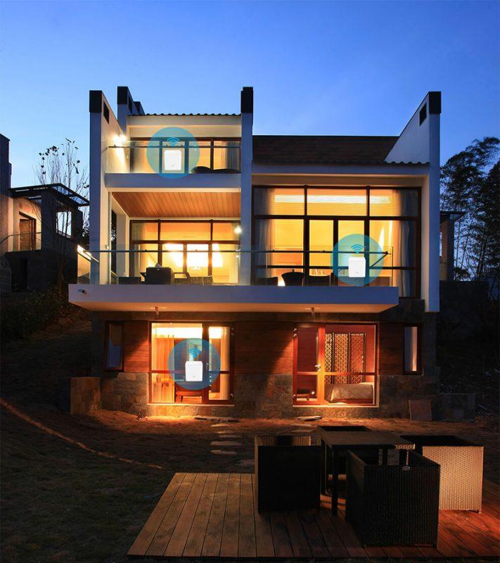 tenda nova mw3 - hệ thống wifi mesh cho gia đình, phủ sóng rộng 300m2 (3 bộ phát) - nhà 3 tầng