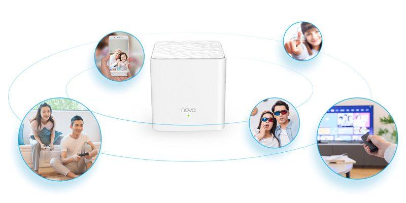 tenda nova mw3 - hệ thống wifi mesh cho gia đình, phủ sóng rộng 300m2 (3 bộ phát) - kết nối đa chế độ