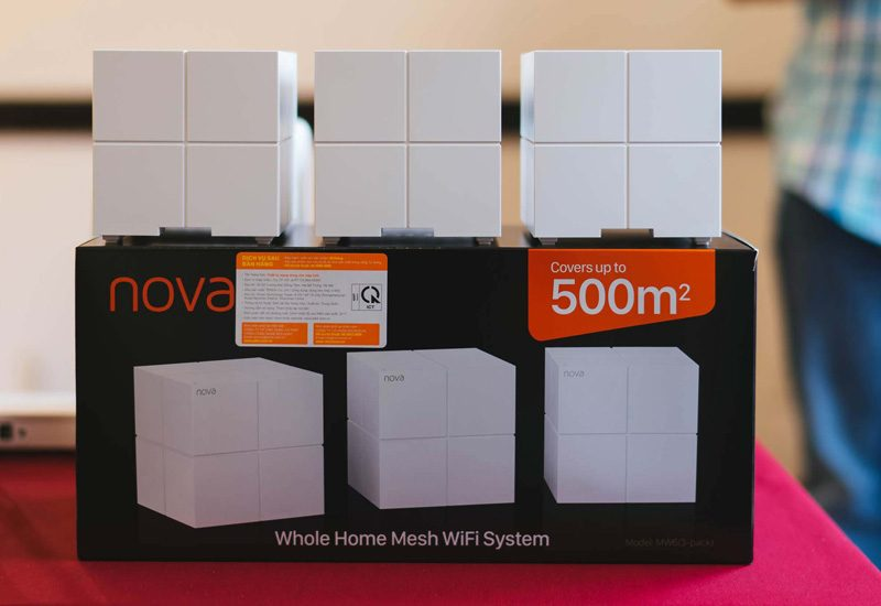 tenda nova mw6 - hệ thống wifi mesh cho gia đình, phủ sóng rộng 500m2 (3 bộ phát) - hộp