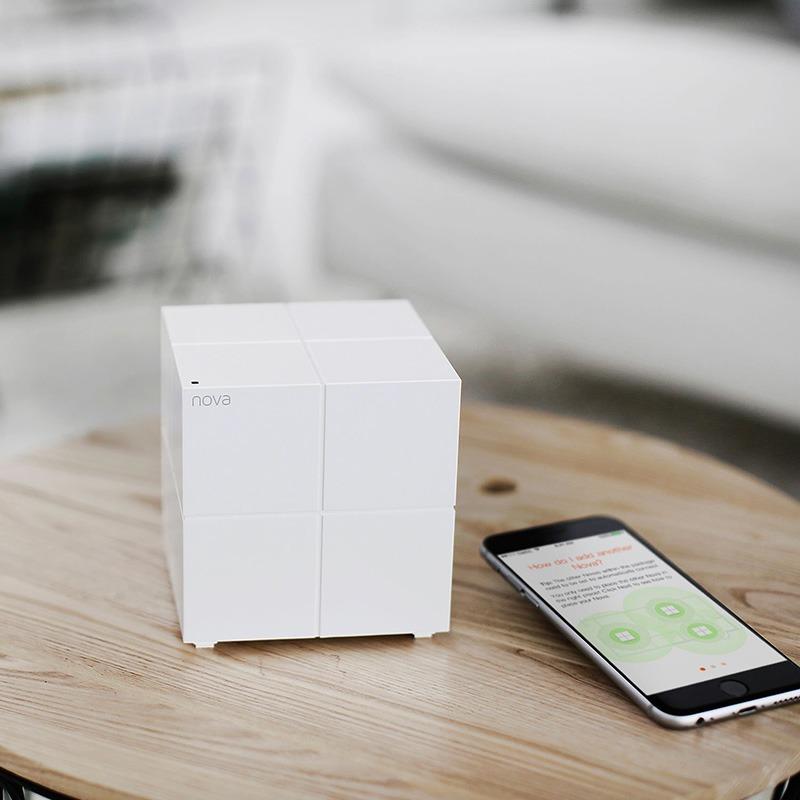 tenda nova mw6 - hệ thống wifi mesh cho gia đình, phủ sóng rộng 500m2 (3 bộ phát) - 1 thiết bị