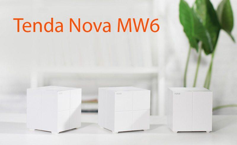 tenda nova mw6 - hệ thống wifi mesh cho gia đình, phủ sóng rộng 500m2 (3 bộ phát) - mặt trước