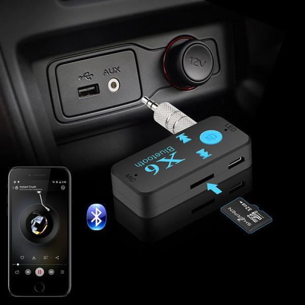 Thiết bị kết nối Bluetooth X6 cho Xe hơi ô tô, Loa, Amply 07