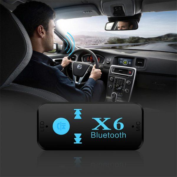 Thiết bị kết nối Bluetooth X6 cho Xe hơi ô tô, Loa, Amply 06