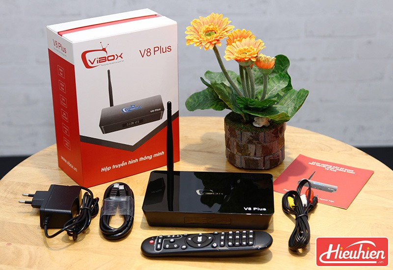 Android TV Box Vibox V8 Plus sở hữu cấu hình Ram 3GB, Rom 16GB