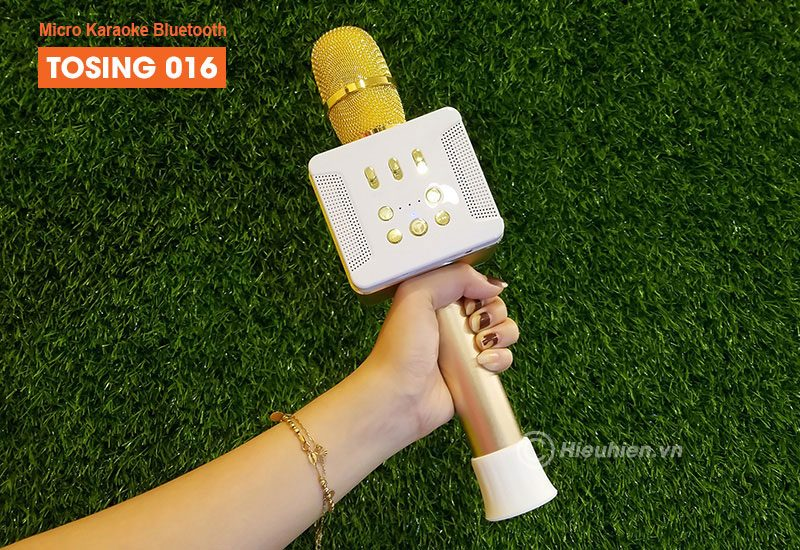 tosing 016 - micro karaoke kèm loa bluetooth công suất 20w, hát cực hay - tay cầm