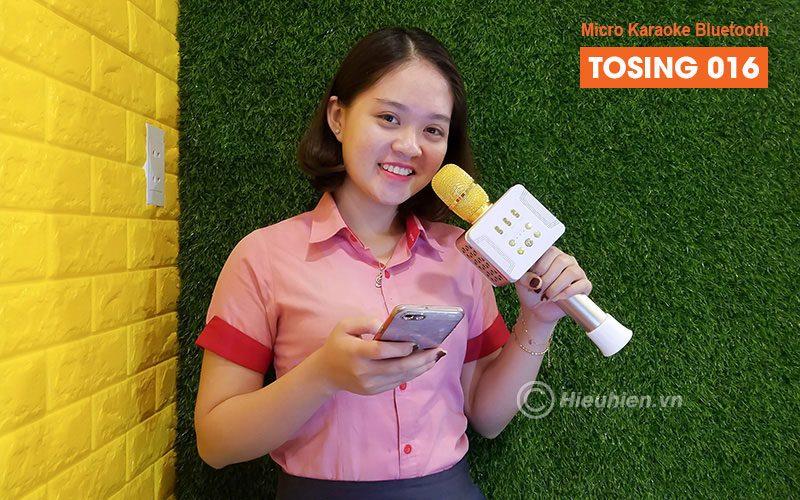 tosing 016 - micro karaoke kèm loa bluetooth công suất 20w, hát cực hay - kết nối đơn giản