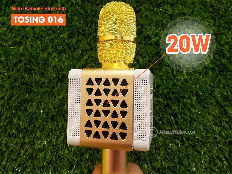 tosing 016 - micro karaoke kèm loa bluetooth công suất 20w, hát cực hay - loa