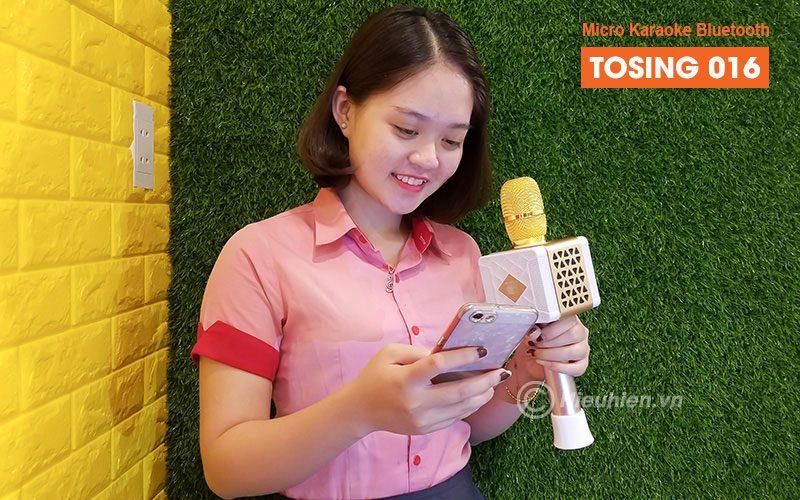 tosing 016 - micro karaoke kèm loa bluetooth công suất 20w, hát cực hay - kết nối bluetooth