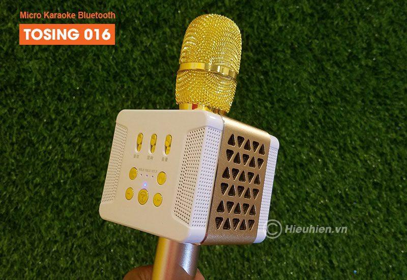 tosing 016 - micro karaoke kèm loa bluetooth công suất 20w, hát cực hay - loa lớn
