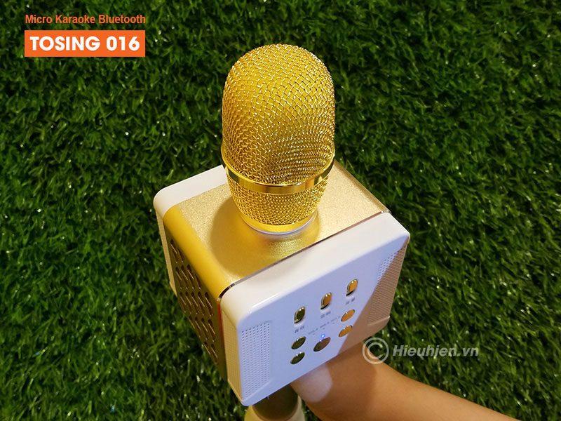 tosing 016 - micro karaoke kèm loa bluetooth công suất 20w, hát cực hay - đầu micro