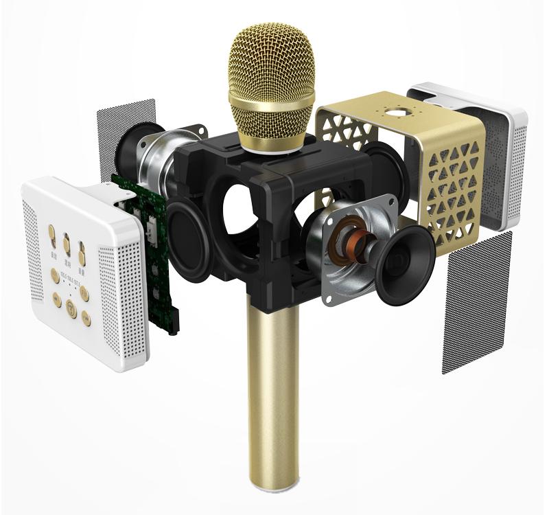 tosing 016 - micro karaoke kèm loa bluetooth công suất 20w, hát cực hay - cấu tạo