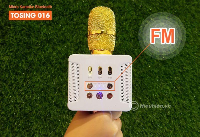 tosing 016 - micro karaoke kèm loa bluetooth công suất 20w, hát cực hay - phím