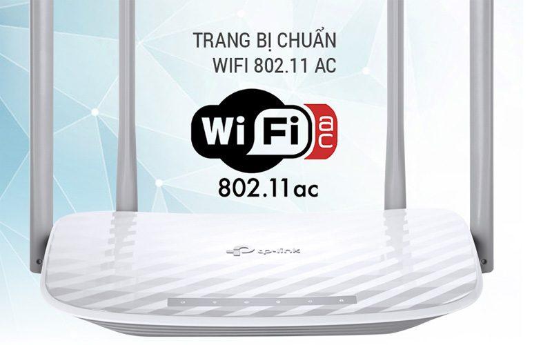 tp-link archer c50 - bộ phát wifi router băng tần kép ac1200 chính hãng, giá tốt - mặt trước