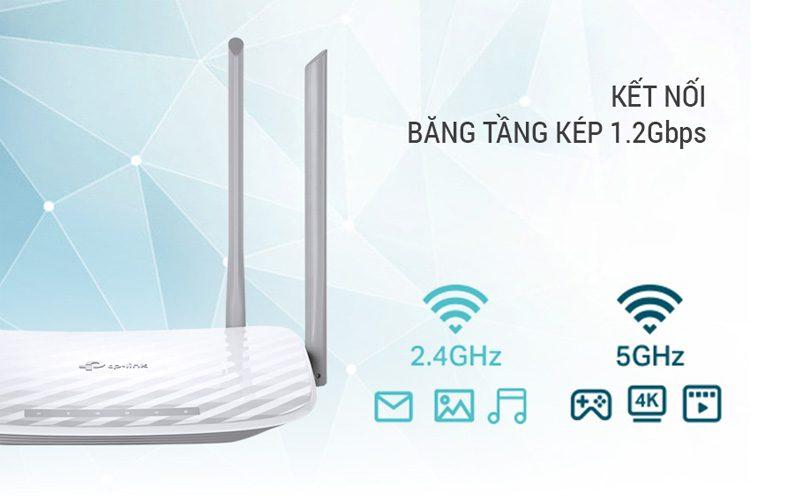 tp-link archer c50 - bộ phát wifi router băng tần kép ac1200 chính hãng, giá tốt - wifi 2 băng tầng