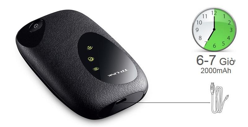 bo phat wifi di dong 3g tp-link m5250 - pin 2000mah ben trong - de dang di chuyen
