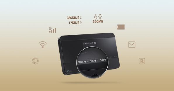 tp-link m7350 - bộ phát wifi di động 4g lte tốc độ 150mbps chính hãng - phím nguồn