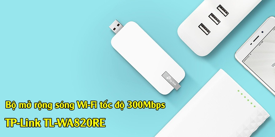 tp-link tl-wa820re - usb mo rong song wifi toc do 300mbps