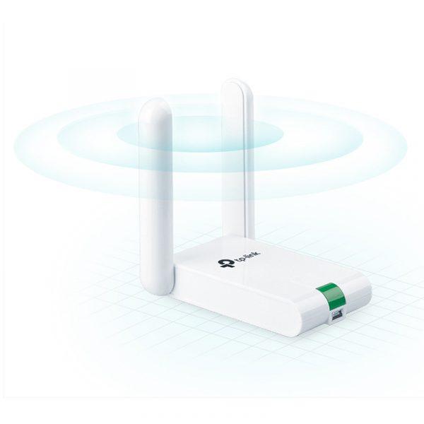 usb thu sóng wifi tp-link tl-wn822n cho máy tính bàn, laptop card wifi bị hư, sóng yếu - hình 04
