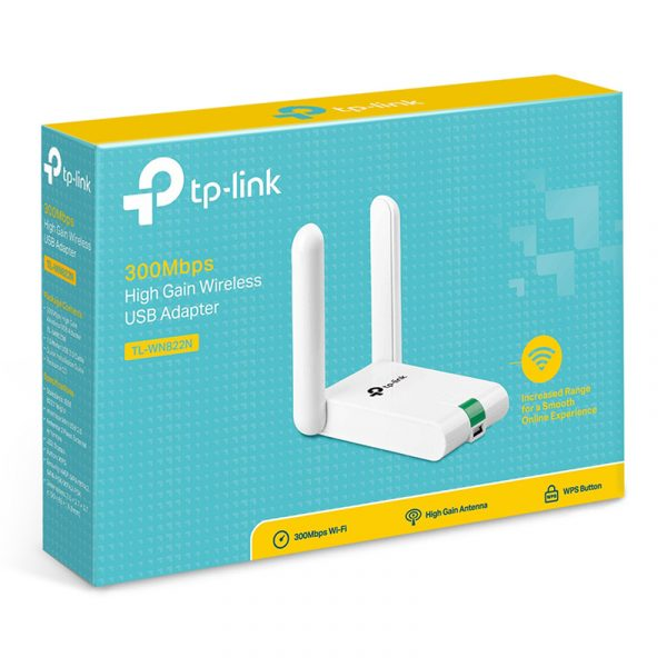 usb thu sóng wifi tp-link tl-wn822n cho máy tính bàn, laptop card wifi bị hư, sóng yếu - hình 06