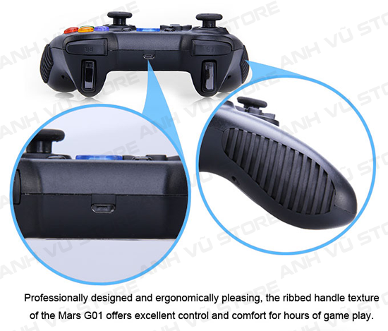 Tronsmart Mars G01 2.4GHz Wireless Gamepad Tay Game Cho Android TV BOX 22