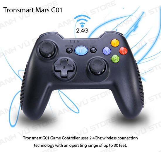 Tronsmart Mars G01 2.4GHz Wireless Gamepad Tay Game Cho Android TV BOX 13