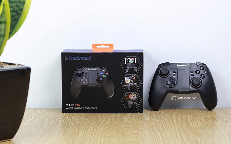 tronsmart mars g02 - tay cầm chơi game cho điện thoại, android tv box ps3 pc - hộp