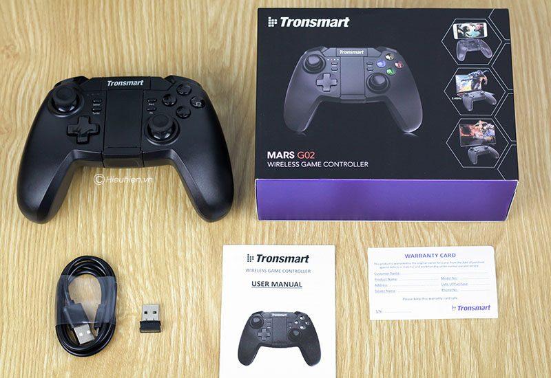 tronsmart mars g02 - tay cầm chơi game cho điện thoại, android tv box ps3 pc - phụ kiện