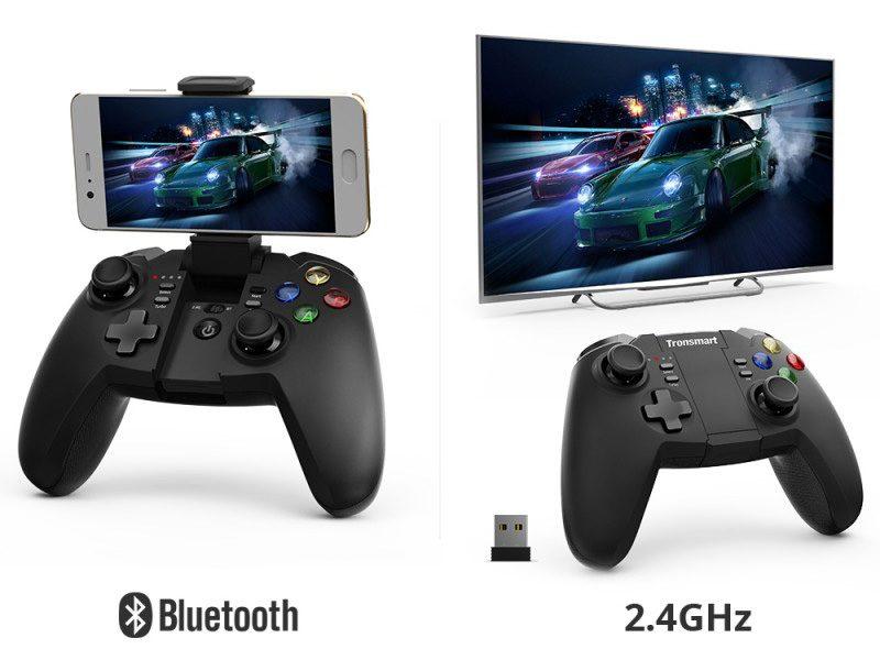 tronsmart mars g02 - tay cầm chơi game cho điện thoại, android tv box ps3 pc - bluetooth
