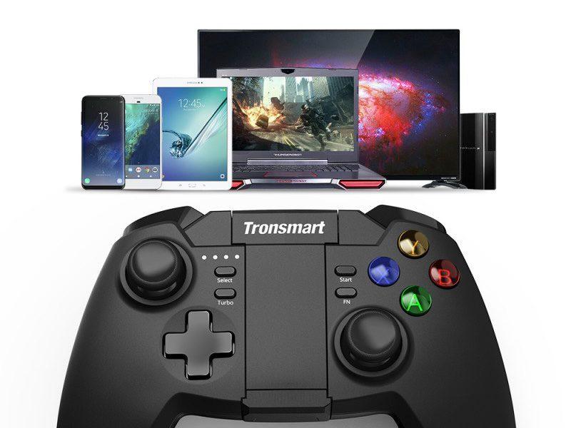 tronsmart mars g02 - tay cầm chơi game cho điện thoại, android tv box ps3 pc - phím điều khiển