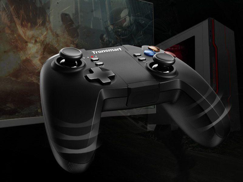 tronsmart mars g02 - tay cầm chơi game cho điện thoại, android tv box ps3 pc - tay cầm