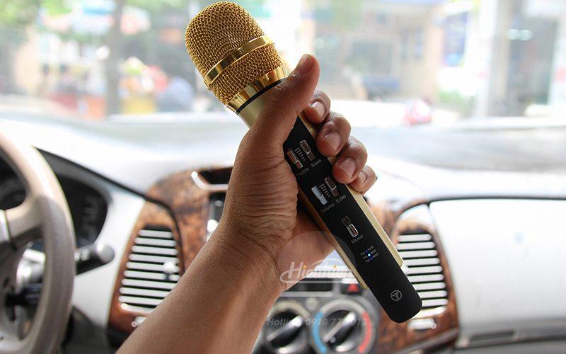 tuxun k9 - micro hát karaoke trên ô tô, xe hơi - micro