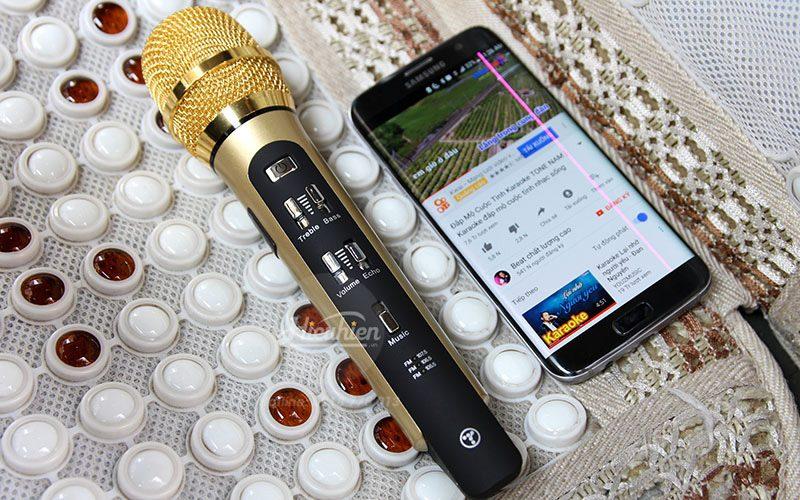 tuxun k9 - micro hát karaoke trên ô tô, xe hơi - hát karaoke smartphone