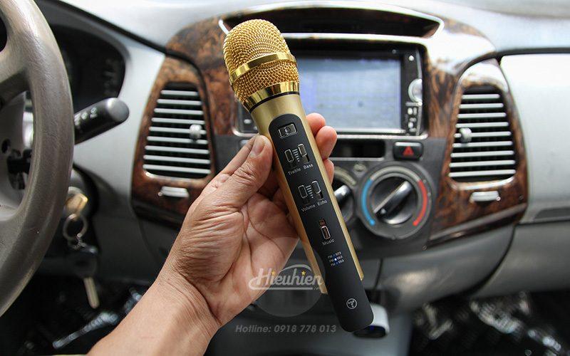 tuxun k9 - micro hát karaoke trên ô tô, xe hơi - điều chỉnh