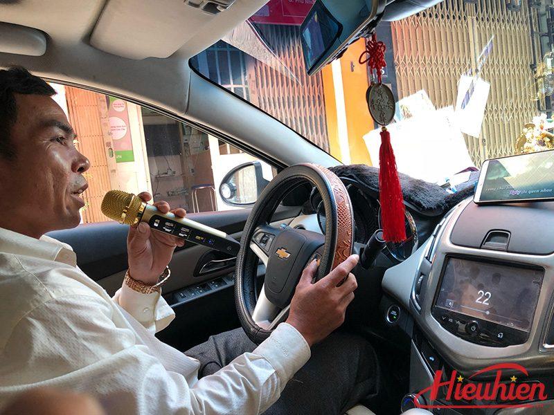 tuxun k9 - micro hát karaoke trên ô tô, xe hơi - hát trên ô tô