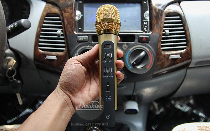 tuxun k9 - micro hát karaoke trên ô tô, xe hơi - phím