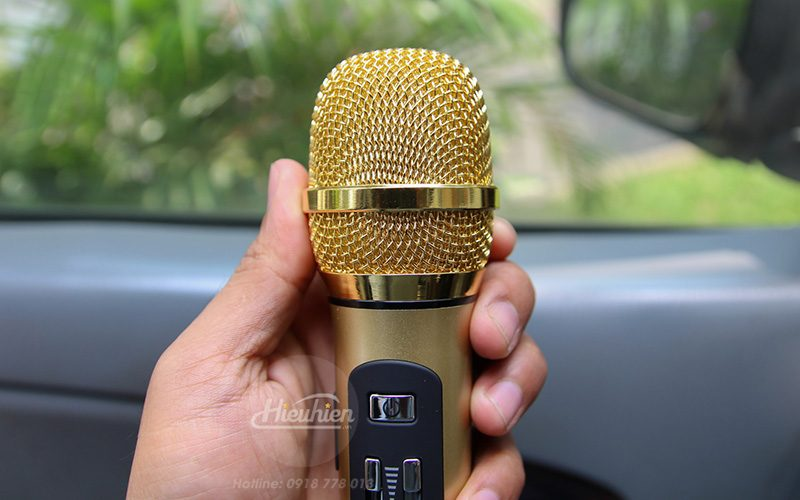 tuxun k9 - micro hát karaoke trên ô tô, xe hơi - đầu mic